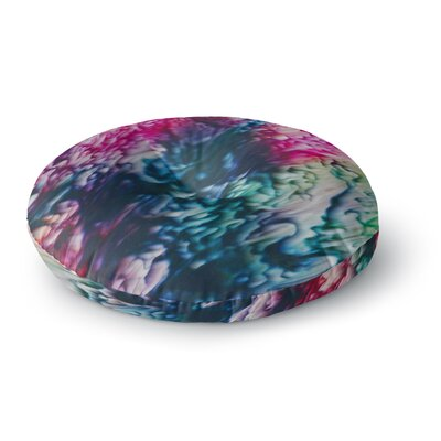 Malia Shields Splash Abstract Ink Round Floor Pillow Size: 26 x 26