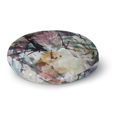 Malia Shields Abstract Trees Abstract Painting Round Floor Pillow Size: 23 x 23