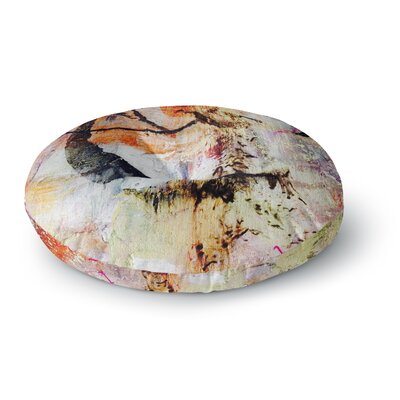 Malia Shields Abstracted Circles Painting Round Floor Pillow Size: 23 x 23