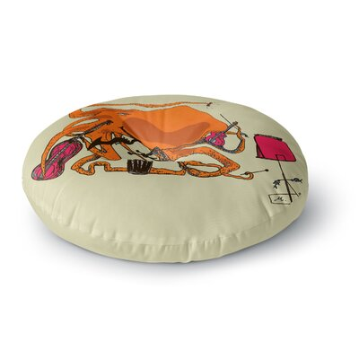 Marianna Tankelevich Playful Octopus Round Floor Pillow Size: 23 x 23