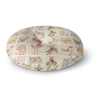 Marianna Tankelevich Birdies Round Floor Pillow Size: 23 x 23