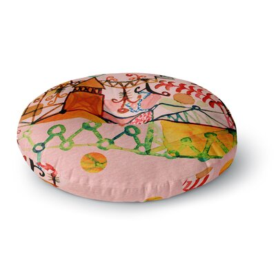 Marianna Tankelevich Happy Town Round Floor Pillow Size: 26 x 26
