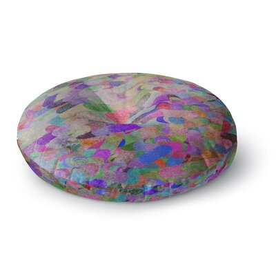 Marianna Tankelevich Abstract Rainbow Round Floor Pillow Size: 23 x 23