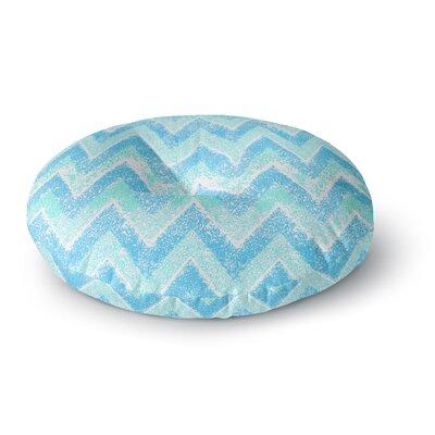 Marianna Tankelevich Mint Snow Chevron Chevron Round Floor Pillow Size: 23 x 23
