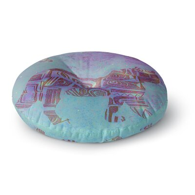 Marianna Tankelevich Panther at Night Round Floor Pillow Size: 26 x 26