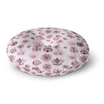 Marianna Tankelevich Cute Stuff Illustration Round Floor Pillow Size: 26 x 26