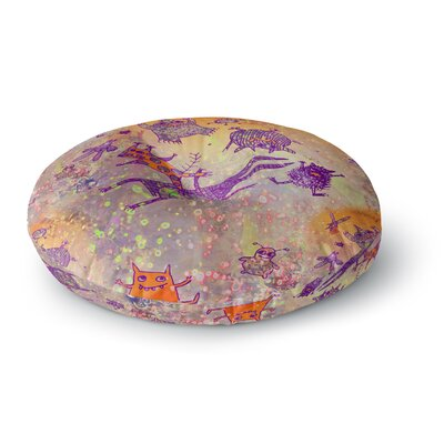Marianna Tankelevich Levitating Monsters Round Floor Pillow Size: 26 x 26
