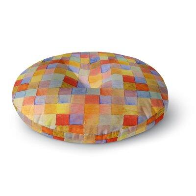 Marianna Tankelevich Rainbow Mozaic Round Floor Pillow Size: 26 x 26