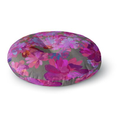 Marianna Tankelevich Purple Flowers Round Floor Pillow Size: 26 x 26