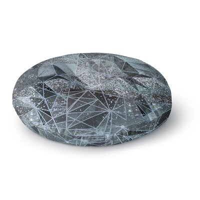Marianna Tankelevich Ice Space Geometry Digital Round Floor Pillow Size: 23 x 23
