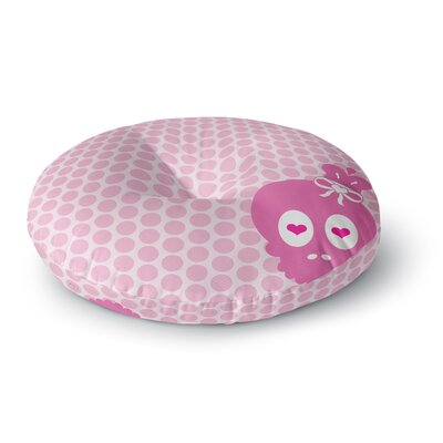Nick Atkinson Skull Round Floor Pillow Size: 23 x 23