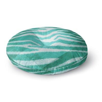 Nick Atkinson Blue Zebra Print Texture Round Floor Pillow Size: 26 x 26