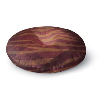 Nick Atkinson Red Zebra Texture Round Floor Pillow Size: 23 x 23