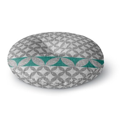Nick Atkinson Diamond Turquoise Round Floor Pillow Size: 23 x 23