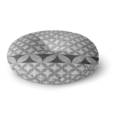 Nick Atkinson Diamond Black Round Floor Pillow Size: 26 x 26