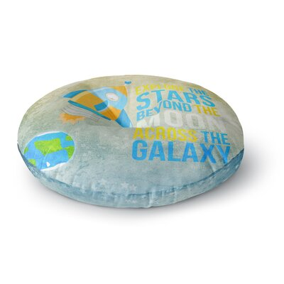 Nick Atkinson Explore the stars Round Floor Pillow Size: 26 x 26