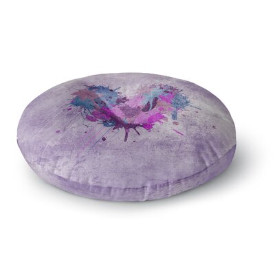 Nick Atkinson Painted Heart Round Floor Pillow Size: 23 x 23
