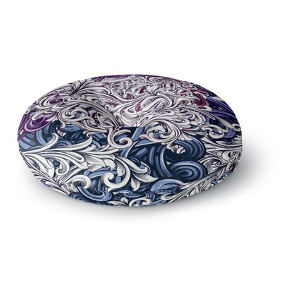Nick Atkinson Celtic Floral I Abstract Round Floor Pillow Size: 26 x 26
