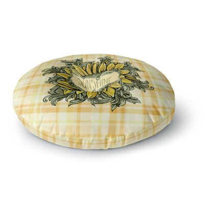 Nick Atkinson Sunflower Sunshine Round Floor Pillow Size: 26 x 26
