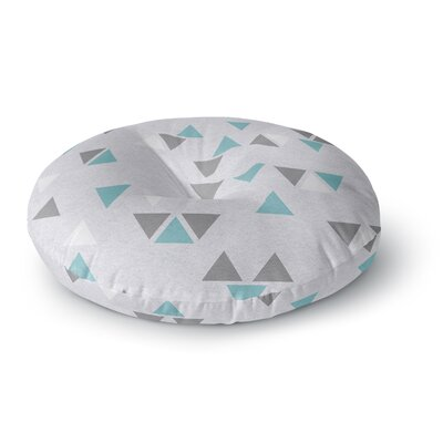 Nick Atkinson Triangle Love II Round Floor Pillow Size: 23 x 23