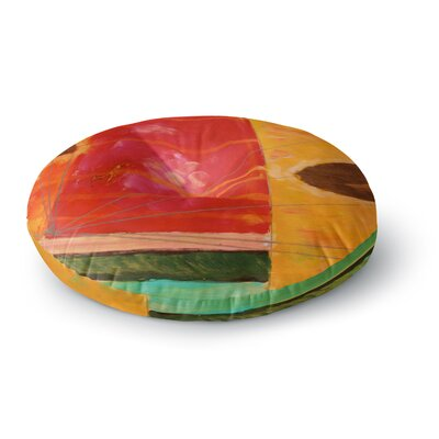 Nathan Gibbs Destination: She Surfs Floral Round Floor Pillow Size: 23 x 23