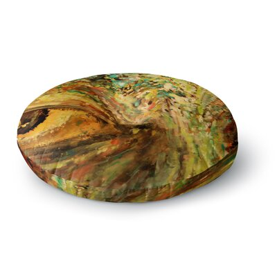 Nathan Gibbs Art Eye of the Storm Round Floor Pillow Size: 26 x 26