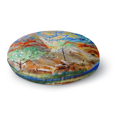 Nathan Gibbs Art The Earth Shows Its End Round Floor Pillow Size: 23 x 23