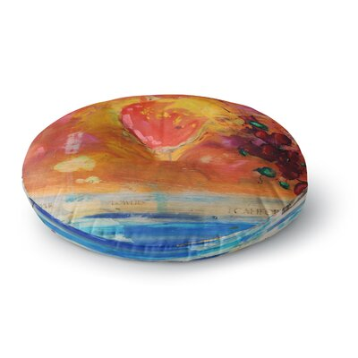 Nathan Gibbs Treslt Painting Round Floor Pillow Size: 23 x 23