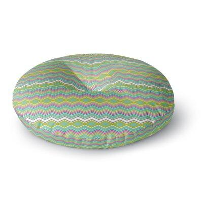 Nicole Ketchum Chevron Love Round Floor Pillow Size: 23 x 23