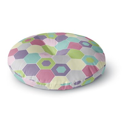 Nicole Ketchum Pale Bee Hex. Round Floor Pillow Size: 26 x 26