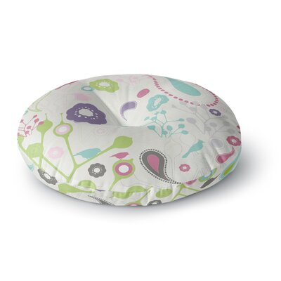 Nicole Ketchum Bird Song Round Floor Pillow Size: 26 x 26