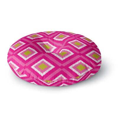 Nicole Ketchum Moroccan Hot Pink Tile Round Floor Pillow Size: 23 x 23