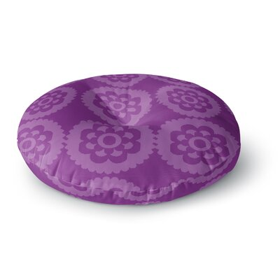Nicole Ketchum Moroccan Purple Round Floor Pillow Size: 26 x 26