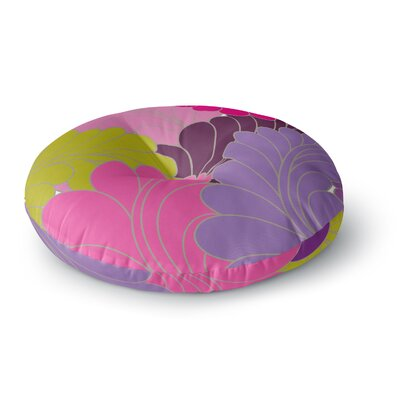 Nicole Ketchum Moroccan Leaves Round Floor Pillow Size: 23 x 23