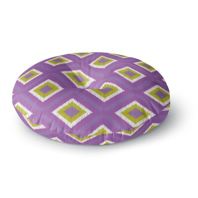 Nicole Ketchum Purple Spash Tile Round Floor Pillow Size: 23 x 23