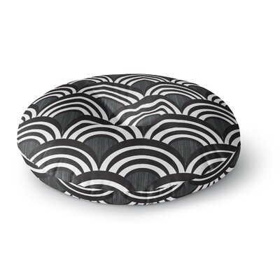 Nicole Ketchum Art Deco Black Round Floor Pillow Size: 23 x 23