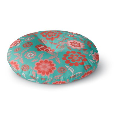 Nicole Ketchum Cherry Floral Sea Round Floor Pillow Size: 23 x 23