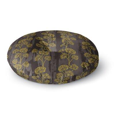 Neelam Kaur Textured Floral Elegance Round Floor Pillow Size: 26 x 26