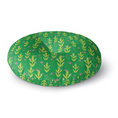 Neelam Kaur Cacti Tropical Inspired Digital Round Floor Pillow Size: 26 x 26