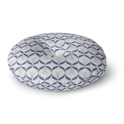 Neelam Kaur Cool Blue Reminiscence Digital Round Floor Pillow Size: 26 x 26