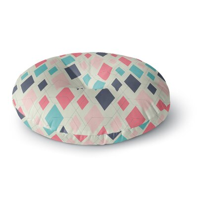 Neelam Kaur Modern Retro Digital Round Floor Pillow Size: 23 x 23