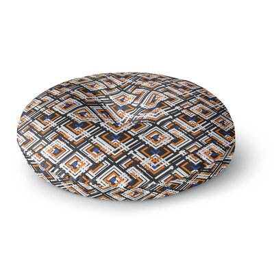 Neelam Kaur Jumbled Digital Round Floor Pillow Size: 26 x 26