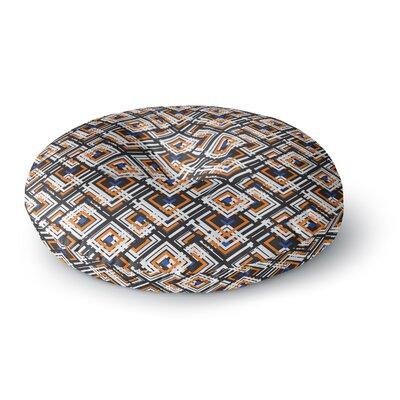 Neelam Kaur Jumbled Digital Round Floor Pillow Size: 23 x 23