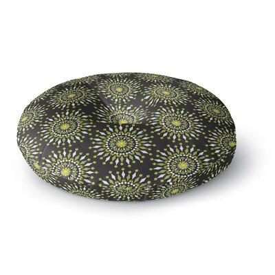 Neelam Kaur Floral Mandala Digital Round Floor Pillow Size: 26 x 26