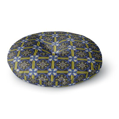 Neelam Kaur Tile Digital Round Floor Pillow Size: 26 x 26