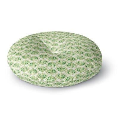 Neelam Kaur Floral Fans Digital Round Floor Pillow Size: 23 x 23