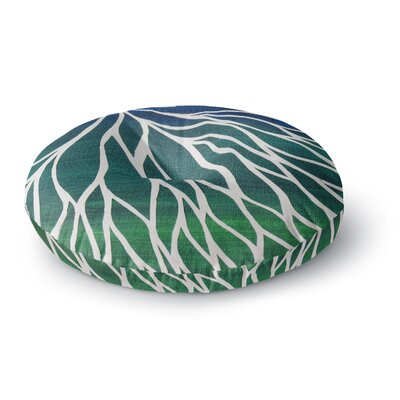 NL Designs Ocean Flower Round Floor Pillow Size: 23 x 23