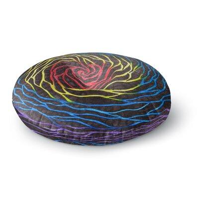 NL Designs Rainbow Vortex Illustration Round Floor Pillow Size: 26 x 26