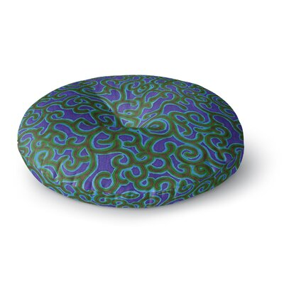 NL Designs Swirling Vines Round Floor Pillow Size: 23 x 23