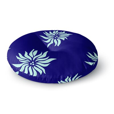 NL Designs Snow Flowers Round Floor Pillow Size: 26 x 26